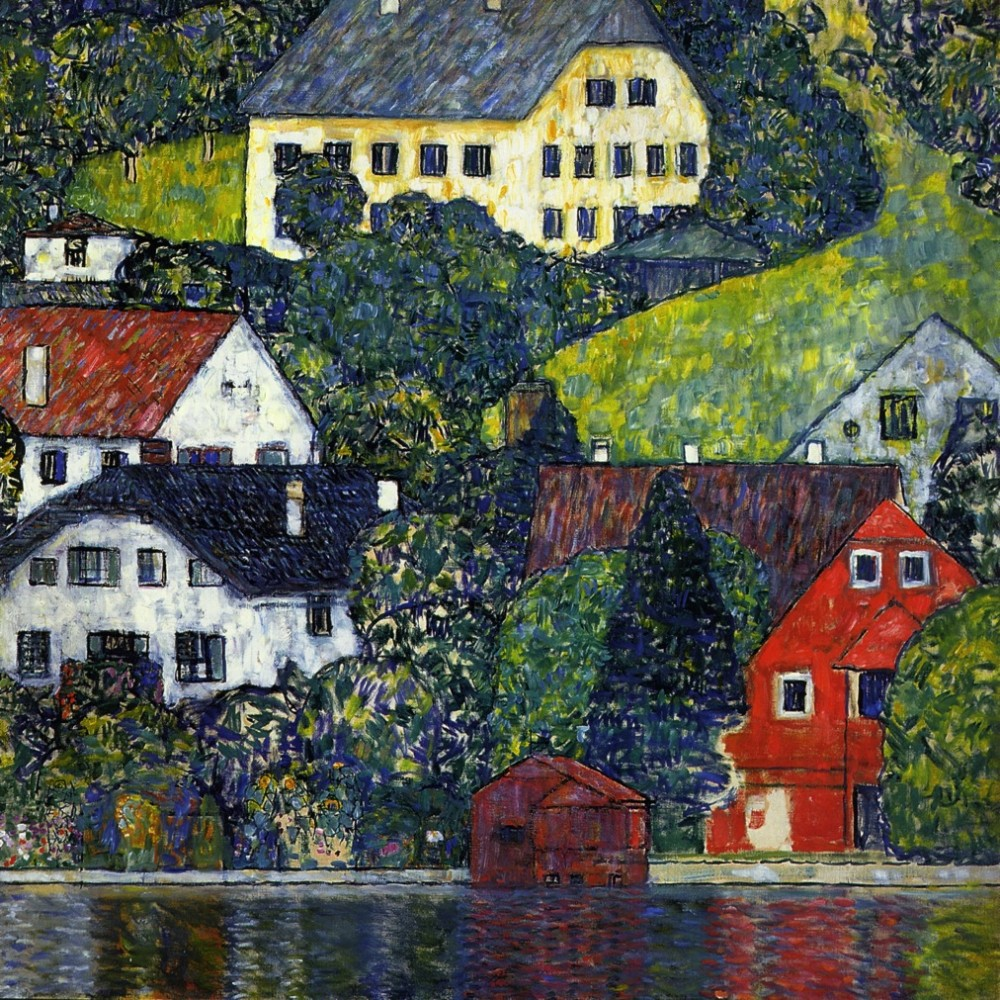 Houses at Unterach on the Attersee, Gustav Klimt