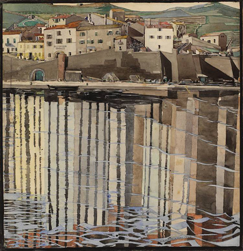 La rue du soleil, Port Vendres by Charles Rennie Mackintosh, 1926