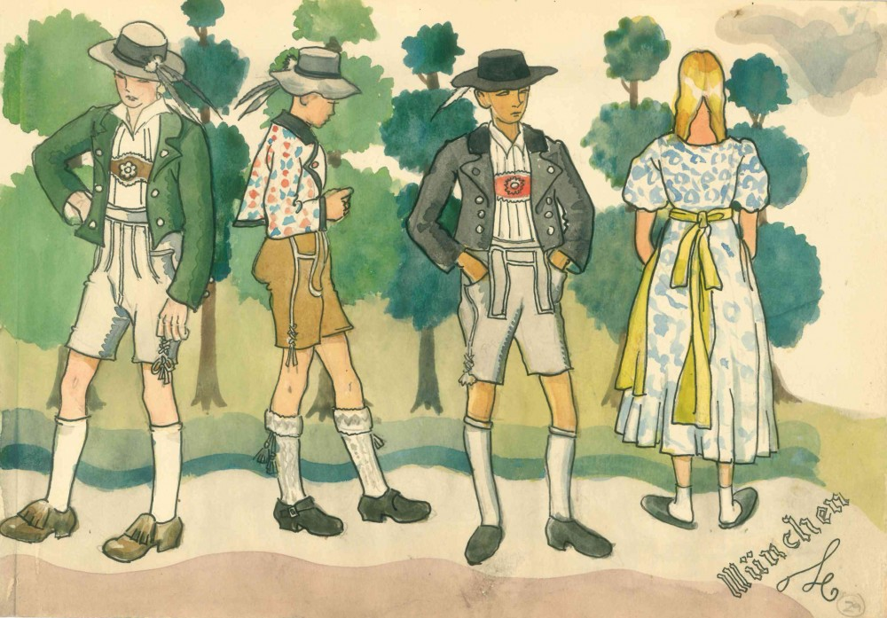 Albert Wainwright, Bavarian costumes