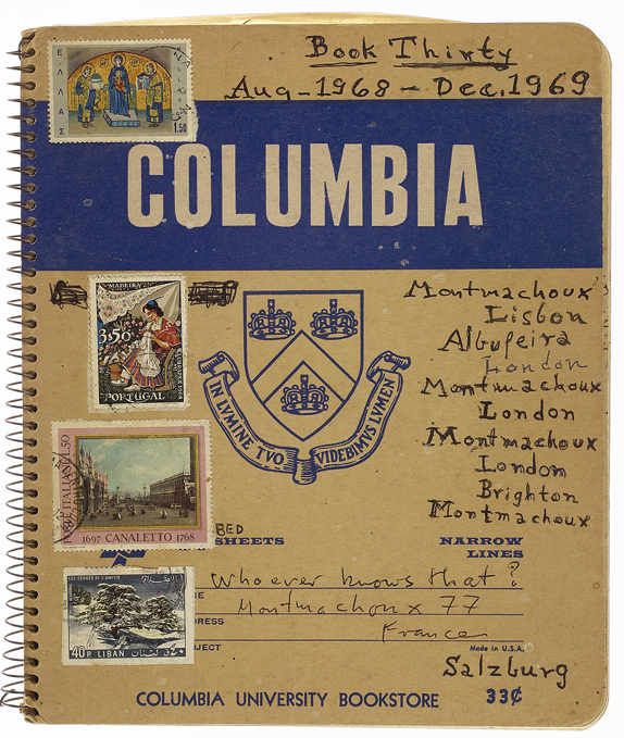 One of the Columbia University notebooks Highsmith wrote in all her life.