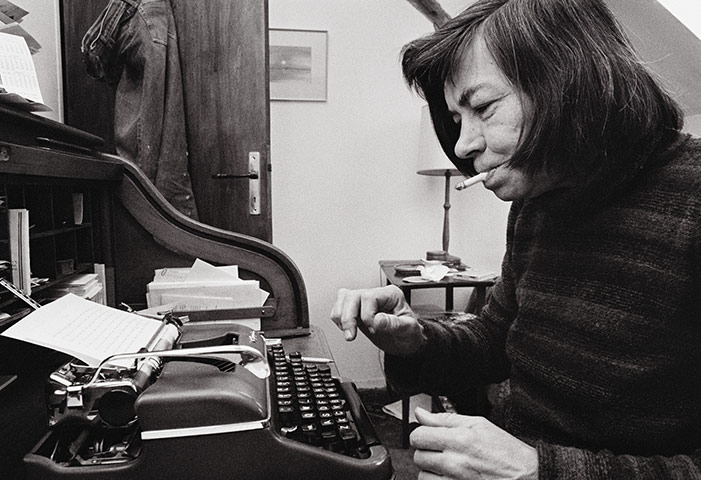 Patricia Highsmith at home in Aurigeno.