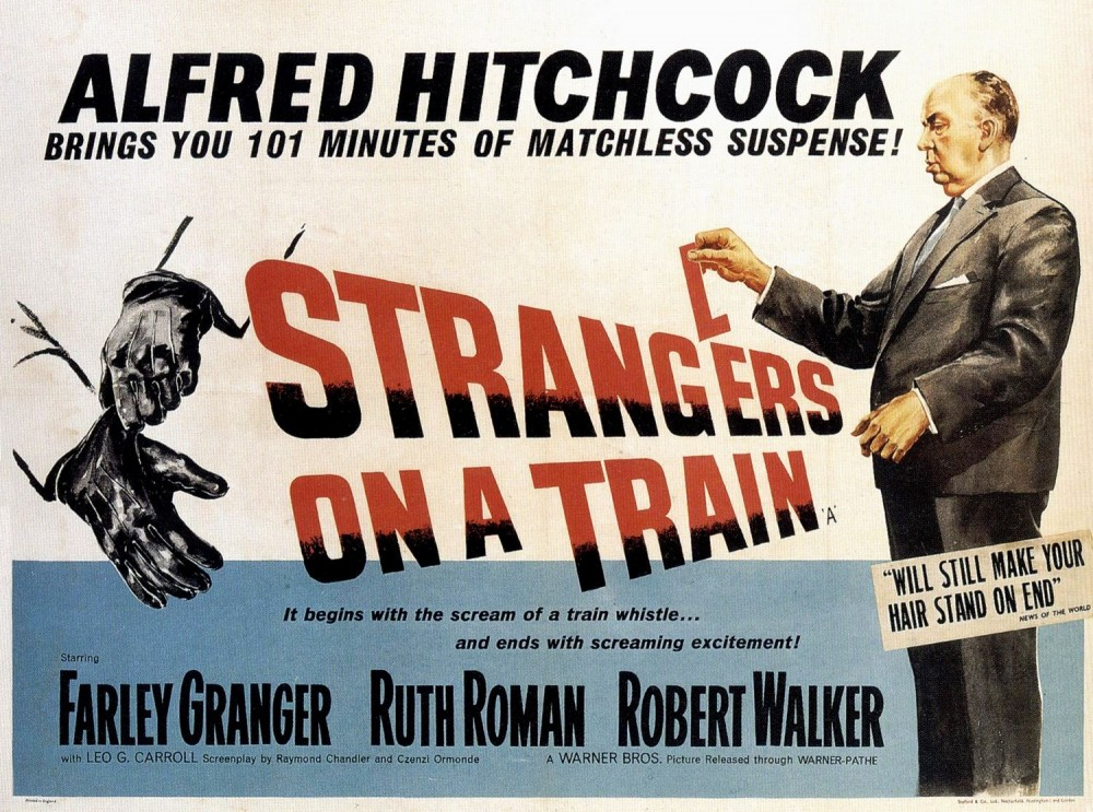 Alfred Hitchcock's Strangers on a Train was based on Highsmith's first novel.