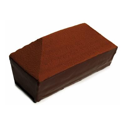 Sprungli's famous coffin-shaped chocolate cake.