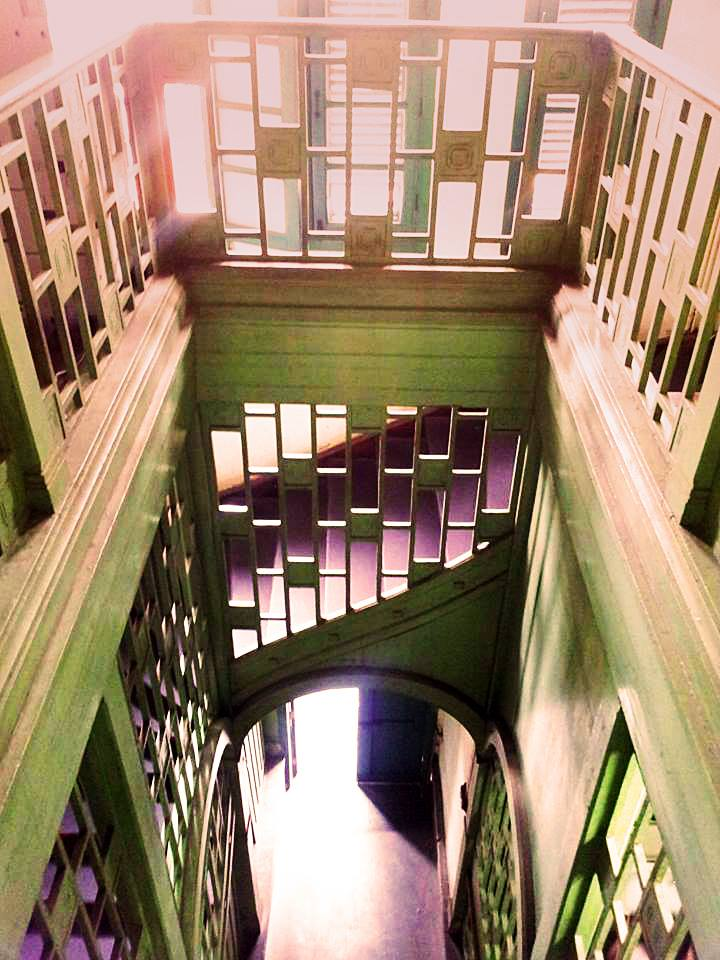 Staircase with Viennese (Koloman Moser) influence, Petchaburi, 1910-1916.