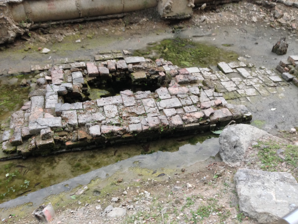 Foundations of the Wang Lang Palace, dating from the Rattanakosin period, 1700s.