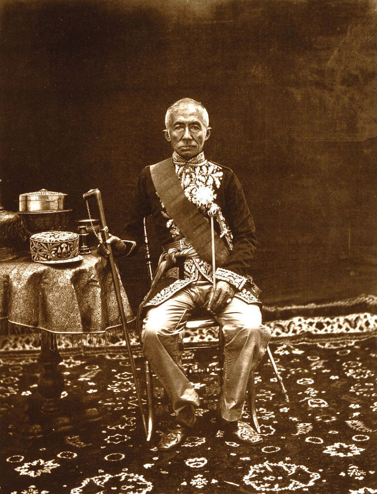Rama IV, King of Siam, in European attire, 1865. Photo by John Thomson.