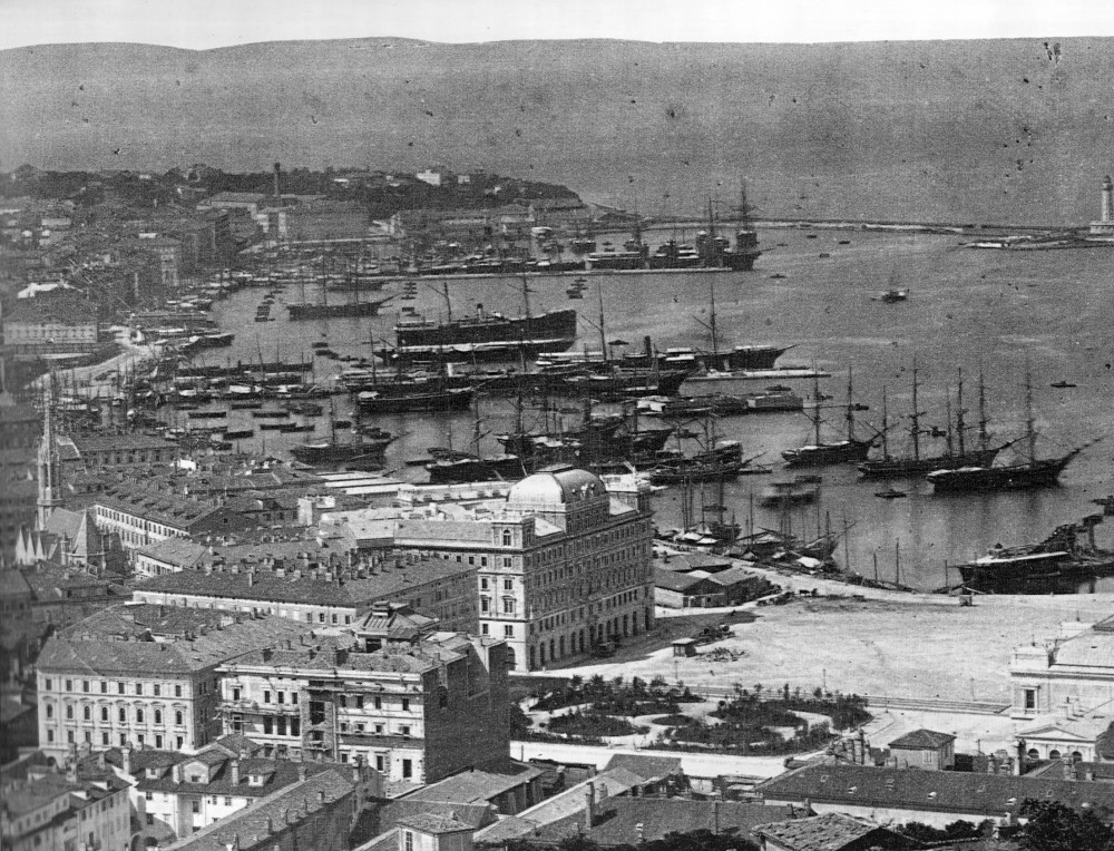 The port of Trieste in 1885
