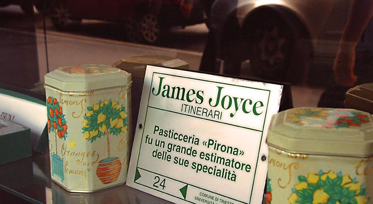 Proud of its Joyce connection: the Caffe Pirona in Trieste. Photo Maurizio Valdemarin
