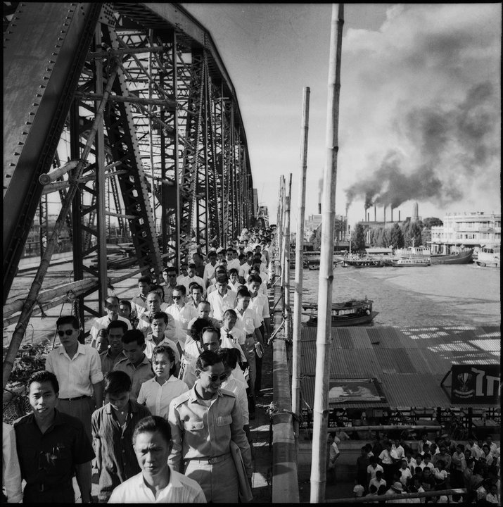Photo by Rong Wong-Savun, The Memorial Bridge, circa 1958, Bangkok.