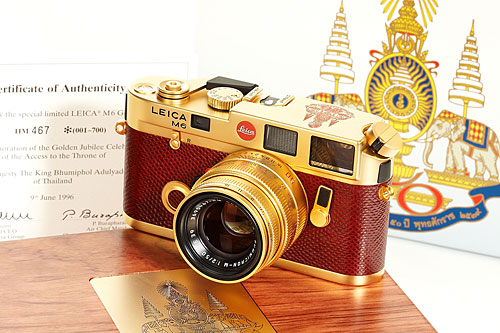 H.M. the King of Thailand's custom-made gold plated Leica.