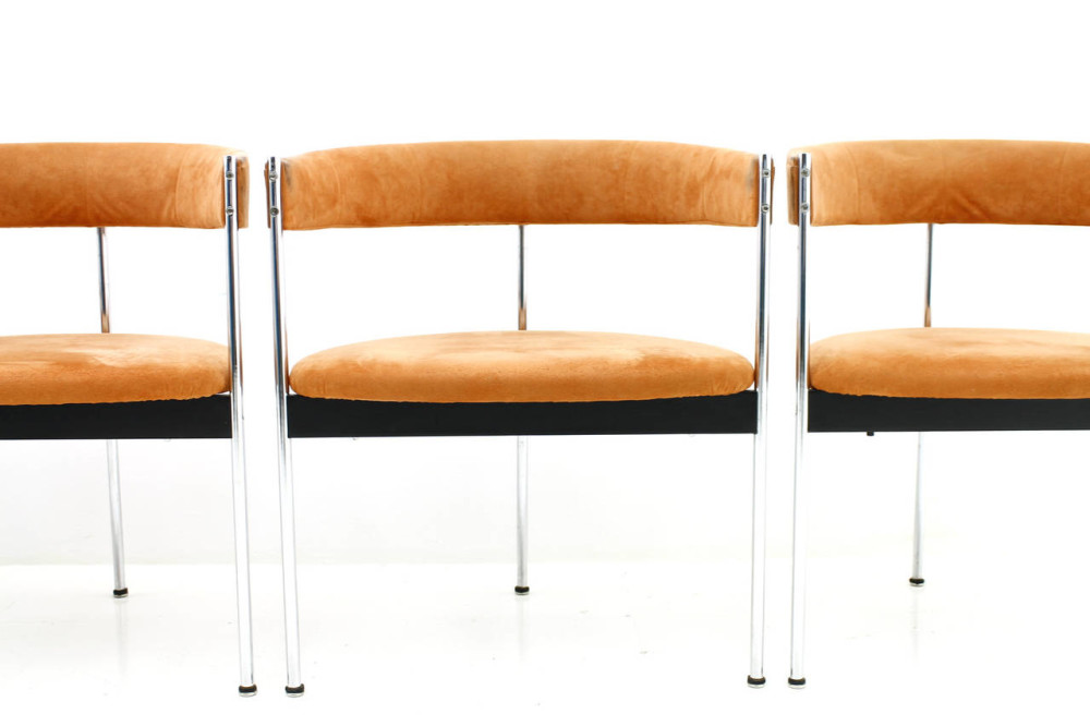 1960s dining chairs designed by Dieter Waeckerlin