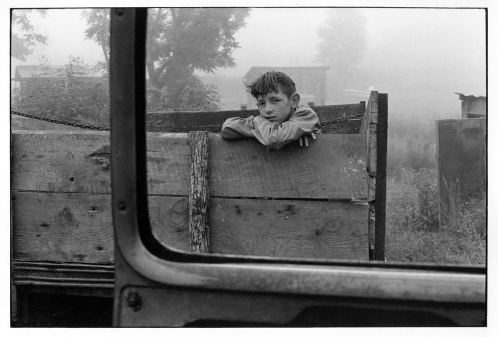 William Gedner, Boy looking out of truck bed, 1972