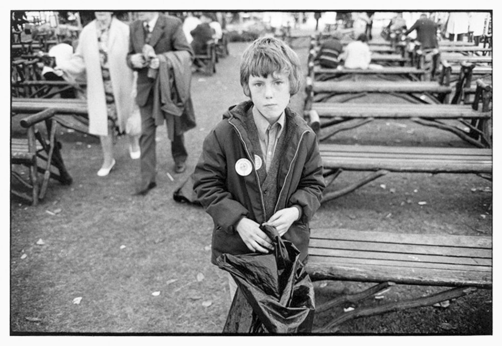 William Gedney, Boy at outdoor ampitheatre, 1974