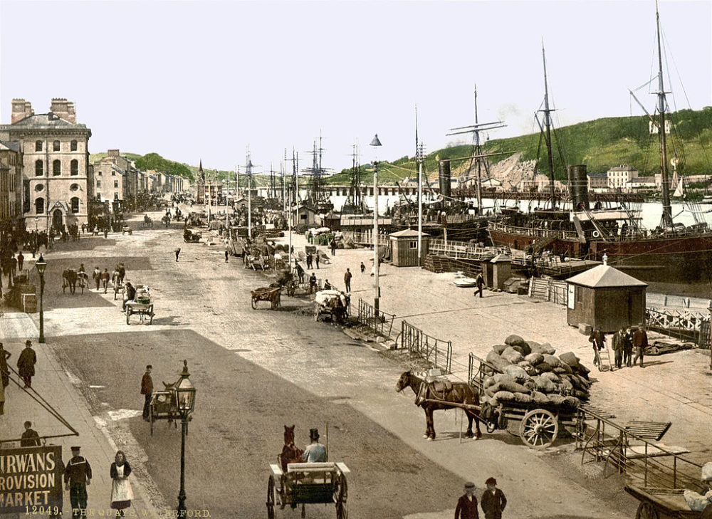 The quays in Waterford city, circa 1890