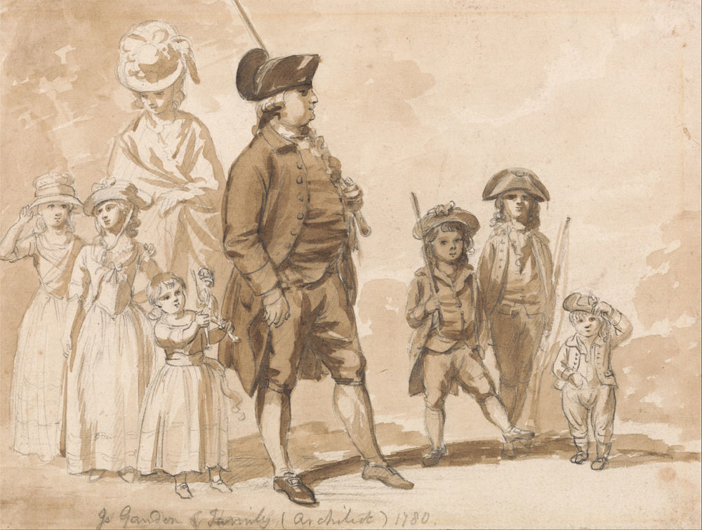 James Gandon and Family by Paul Sandby