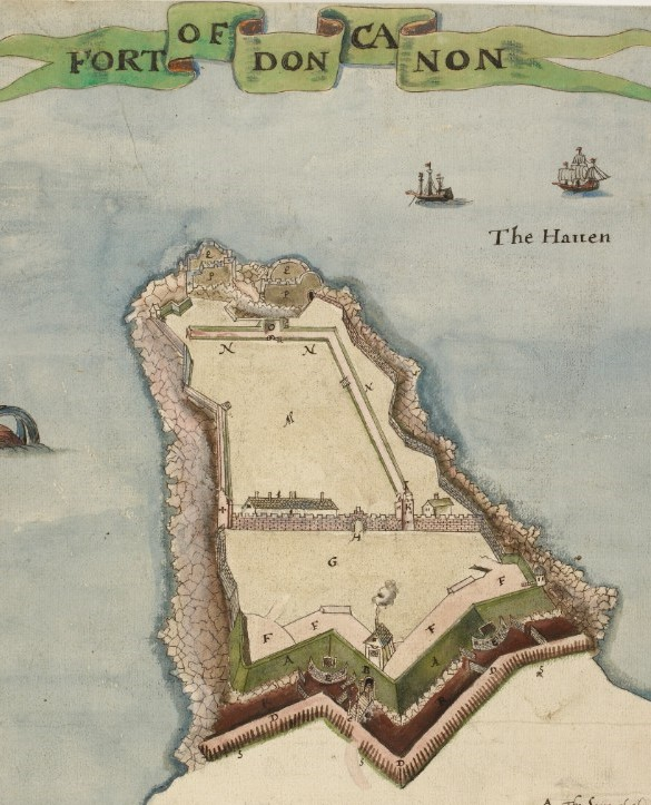 Map of Duncannon Fort dating to 1611 © The British Library
