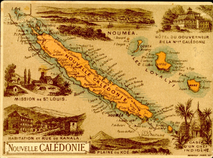Map of Nouvelle Caledonie, 1862