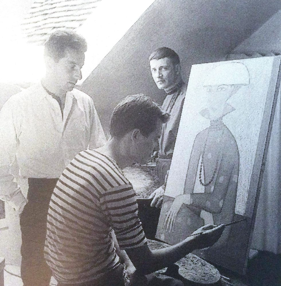 Horst-Egon Kalinowski and Michel Lablais (seated), date unknown